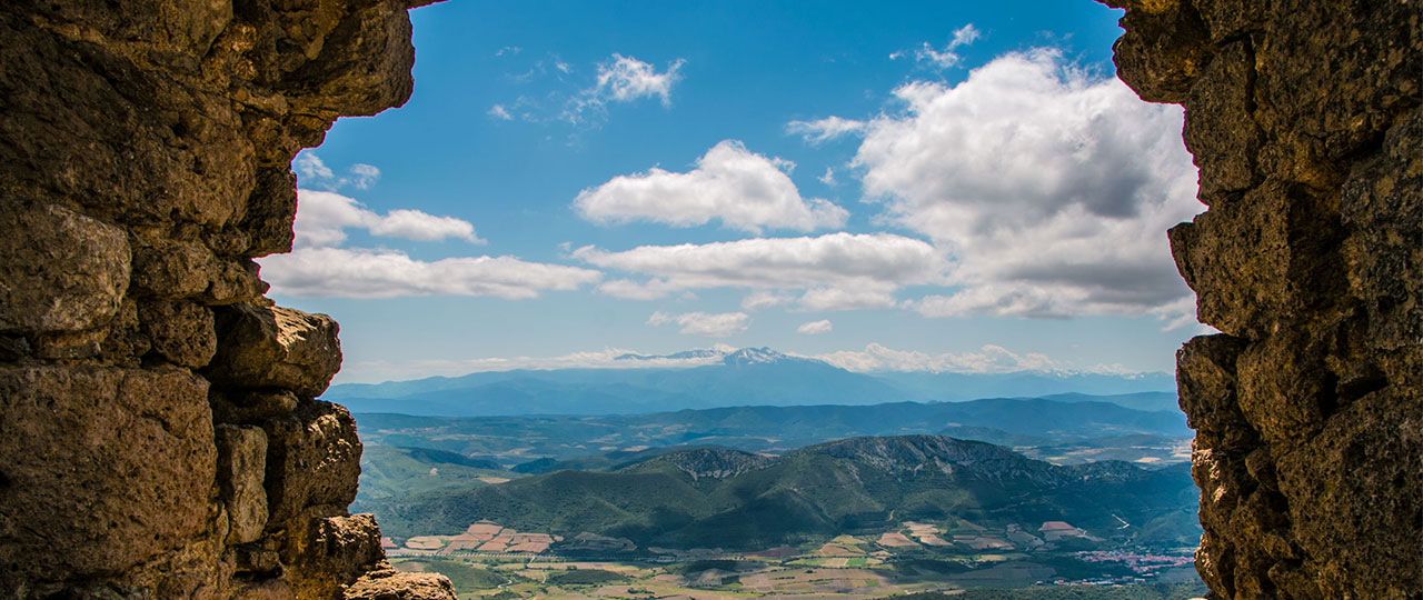 View of Pyrenees Mountains